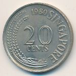Сингапур, 20 центов (1980–1981 г.)