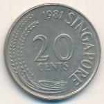 Сингапур, 20 центов (1981 г.)