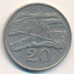Зимбабве, 20 центов (1980–1991 г.)