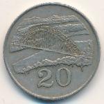 Зимбабве, 20 центов (1980 г.)
