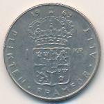 Швеция, 1 крона (1969 г.)