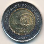 Доминиканская республика, 10 песо (2005 г.)