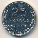 Коморские острова, 25 франков (2001 г.)