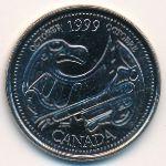 Канада, 25 центов (1999 г.)