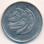 Канада, 25 центов (2000 г.)