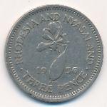 Родезия и Ньясаленд, 3 пенса (1956 г.)