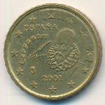 Испания, 10 евроцентов (2001 г.)