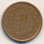Испания, 5 евроцентов (1999–2009 г.)