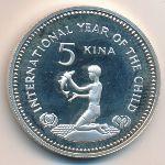 Папуа - Новая Гвинея, 5 кин (1981 г.)
