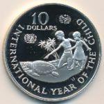 Каймановы острова, 10 долларов (1982 г.)