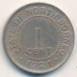 Северное Борнео, 1 цент (1921 г.)