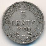 Ньюфаундленд, 5 центов (1908 г.)
