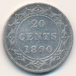 Ньюфаундленд, 20 центов (1890 г.)