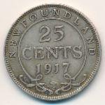 Ньюфаундленд, 25 центов (1917 г.)