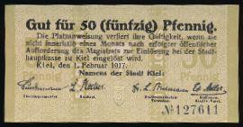 Киль., 50 пфеннигов (1917 г.)