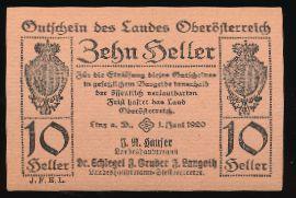 Линц., 10 геллеров (1920 г.)