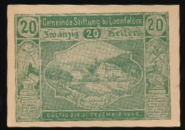 Бад-Леонфельден., 20 геллеров (1920 г.)