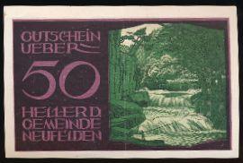 Нойфельден., 50 геллеров