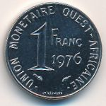 West African States, 1 franc, 1976