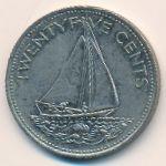 Багамские острова, 25 центов (2000 г.)
