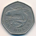 Барбадос, 1 доллар (1988–1989 г.)