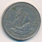 Восточные Карибы, 25 центов (1981–1989 г.)