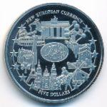 Либерия, 5 долларов (2001 г.)