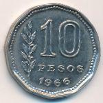 Аргентина, 10 песо (1966 г.)