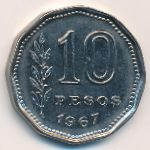 Аргентина, 10 песо (1967 г.)