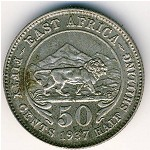 East Africa, 50 cents, 1937–1944