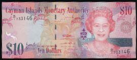 Каймановы острова, 10 долларов (2010 г.)