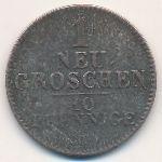 Саксония, 1 новый грош (1842 г.)