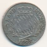 Бавария, 6 крейцеров (1825 г.)