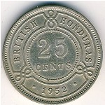 British Honduras, 25 cents, 1952
