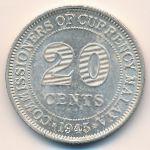 Малайя, 20 центов (1945 г.)