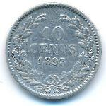 Нидерланды, 10 центов (1893 г.)