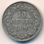 Ньюфаундленд, 10 центов (1896 г.)