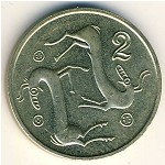 Cyprus, 2 cents, 1991–2004