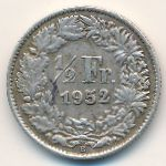 Швейцария, 1/2 франка (1952 г.)