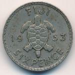 Фиджи, 6 пенсов (1953–1965 г.)