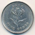 Родезия, 5 центов (1977 г.)