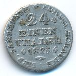 Шаумбург-Липпе, 1/24 талера (1826 г.)
