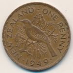 Новая Зеландия, 1 пенни (1949–1950 г.)