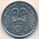 Французская Полинезия, 10 франков (1973 г.)