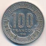 Экваториальная Гвинея, 100 франков (1985 г.)