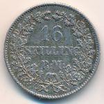 Дания, 16 скиллингов ригсмонт (1857 г.)