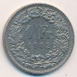 Швейцария, 1 франк (1982 г.)