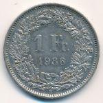 Швейцария, 1 франк (1986–2016 г.)