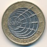 Великобритания, 2 фунта (2001 г.)