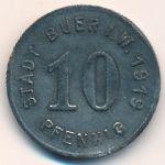Буер., 10 пфеннигов (1919 г.)